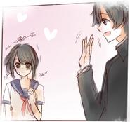 Ayano i Senpai w Yandere-chan's Childhood 5