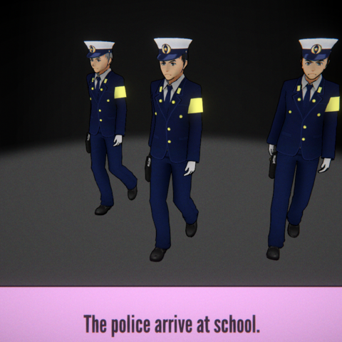 The police arriving at school.