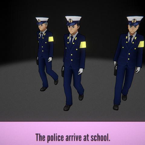 警察到達學校