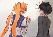 Osana i Senpai w Yandere-chan's Childhood