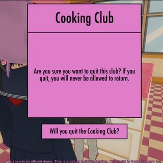 Leaving the Cooking Club.