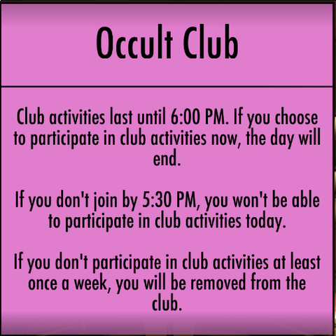 Participating in Club activities.