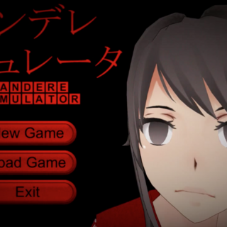 Yandere-chan staring blankly at the player.