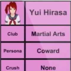 Yui的第一版個人資料
