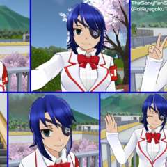 A super cute and adorable picture collage of Aoi smiling and being happy! Isn't she just so precious?