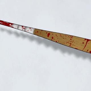 A bloody bat.