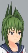 Odstające zielone włosy