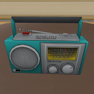 已開啟的收音機