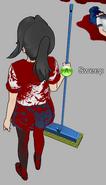 Ayano trzymająca mop 22-9-14