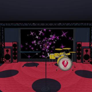 Escenario cuyos instrumentos se encuentran.