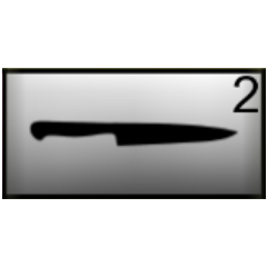 Knife in inventory.