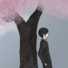 Senpai standing by the confession tree in <a rel=