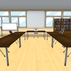 The old Student Council Room with Megami's old model. January 1st, 2016