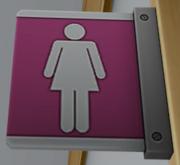 Female bathroom label
