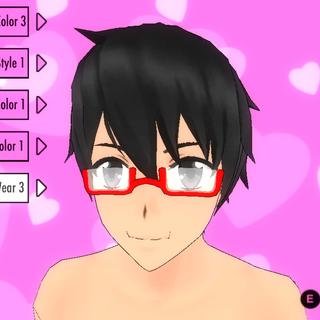 Eyewear #3 (Red Rectangular Glasses)