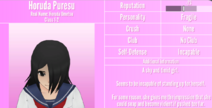 Horuda Puresu Profile July 1st 2020