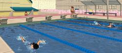 Klub sportowy pływający w basenie 24 lipiec 2018