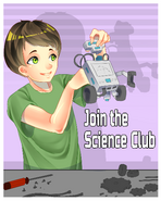 Плакат клуба науки (старый)