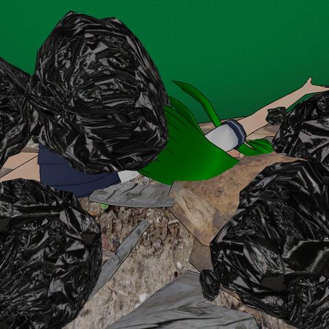 Mayat Midori di dalam tempat sampah. 8 Februari 2016.