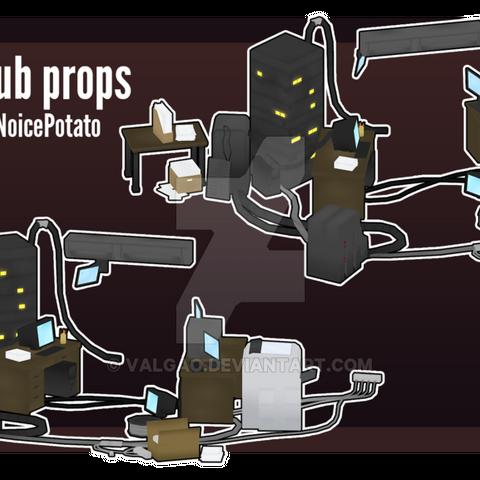 Modelos de los objetos del Info Club hechos por <a rel=