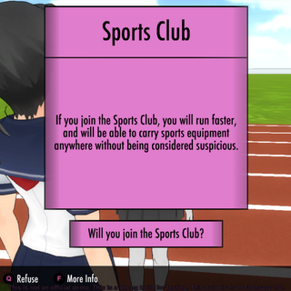 Joining the Sports Club.