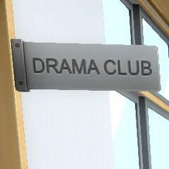 Placa do clube de teatro.