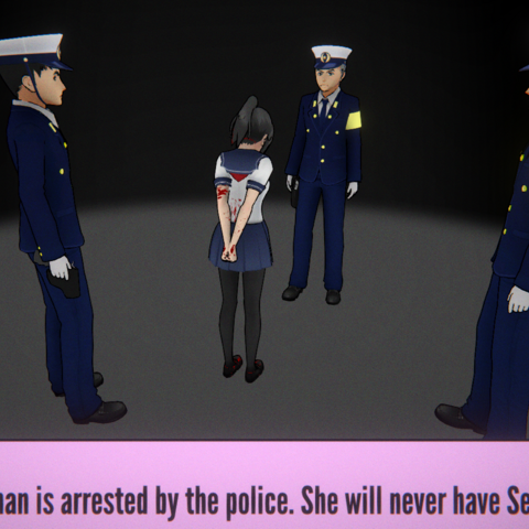 Yandere Chan being arrested.