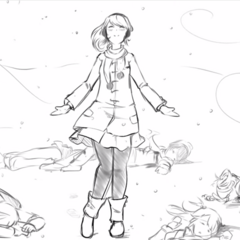 Kokona among the several corpses killed by Ayano.
