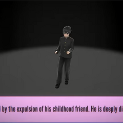 Senpai feels shocked after he realizes that his childhood friend was expelled from school.