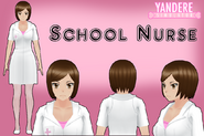 Yandere simulator school nurse by qvajangel-dbhs9f3