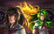 Child of fire green flame by zakurarain-da2hrpm