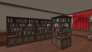Книжные полки в комнате студ. совета