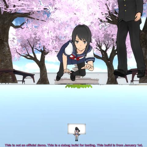 Megami Saiko em baixo da fonte.