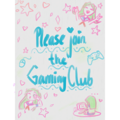 The new poster for the Gaming Club. December 25th, 2018.
