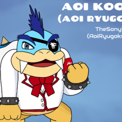 Aoi Ryugoku as a Koopaling! I love the Koopalings and wanted to draw Aoi as one too! I really love this drawing!