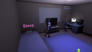Pokój yandere-chan w nocy