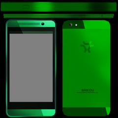 Tekstur telepon Midori dari file game.