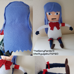 My homemade Megami Saikou plush! Megami and Shiromi are both my 2nd favorite Student Council members! I'm happy and proud that I have my very own Megami plushie!