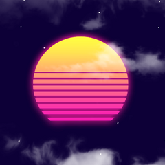 The sun in Vaporwave Mode.