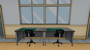 Два компьютерных стола