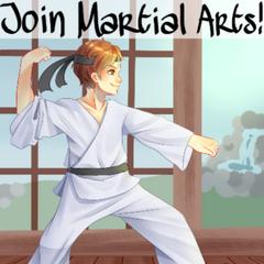 Afiche del Club de Artes Marciales.