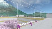 Забор на крыше школы