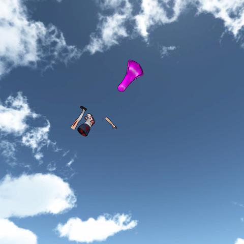 Mai Waifu's limbs flying away.