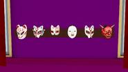 Maski na nowej ścianie klubu