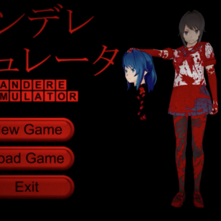 Yandere-chan holding a severed head.