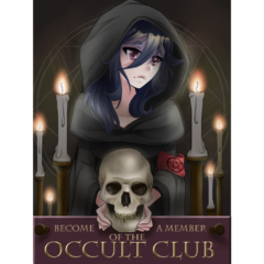 The new poster for the Occult Club. December 25th, 2018.