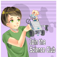The old poster of the Science Club. March 31st, 2016.