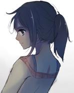 Ayano od tyłu w Yandere-chan's Childhood