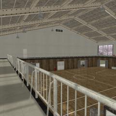 初版體育館頂的陽台