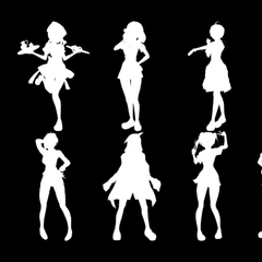 The silhouettes of all ten rivals, as shown in